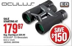 Bass Pro Shops Black Friday: Oculus 7.0 Binoculars for $179.97