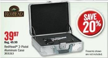 Bass Pro Shops Black Friday: RedHead 2-Pistol Aluminum Gun Case for $39.97