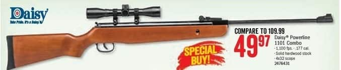 Bass Pro Shops Black Friday: Daisy Powerline 1101 Air Rifle Combo w/ 4x32 Scope for $49.97