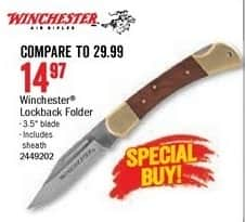 Bass Pro Shops Black Friday: Winchester Lockback Folder Knife for $14.97