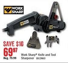 Bass Pro Shops Black Friday: Work Sharp Knife & Tool Sharpener for $69.97