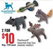 Bass Pro Shops Black Friday: (2) Playhound Assorted Dog Toys for $10.00