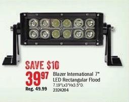 Bass Pro Shops Black Friday: Blazer 7'' LED Rectangular Flood Light Bar for $39.97