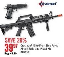 Bass Pro Shops Black Friday: Crosman Elite Front Line Force Airsoft Rifle & Pistol Kit for $39.97