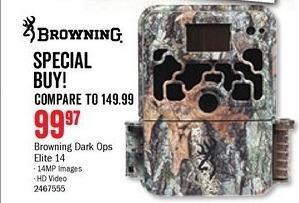 Bass Pro Shops Black Friday: Browning Dark Ops Elite 14 Camera for $99.97