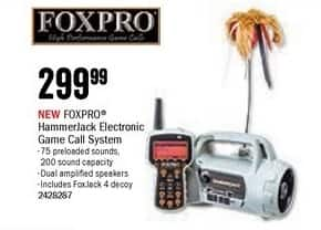 Bass Pro Shops Black Friday: FOXPRO HammerJack Electronic Game Call System for $299.99