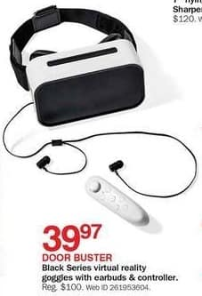Bon-Ton Black Friday: Black Series Virtual Reality Goggles w/ Earbuds & Controller for $39.97