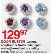 Bon-Ton Black Friday: Garnet Amethyst Earring Boxed Set for $129.97