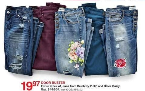 Bon-Ton Black Friday: Celebrity Pink Jeans for $19.97
