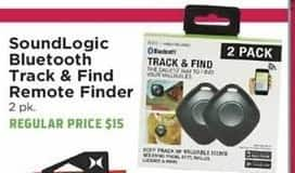 H-E-B Black Friday: SoundLogic 2-pk. Bluetooth Track & Find Remote Finder for $10.00
