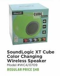 H-E-B Black Friday: SoundLogic XT Cube Color Changing Wireless Speaker for $25.00