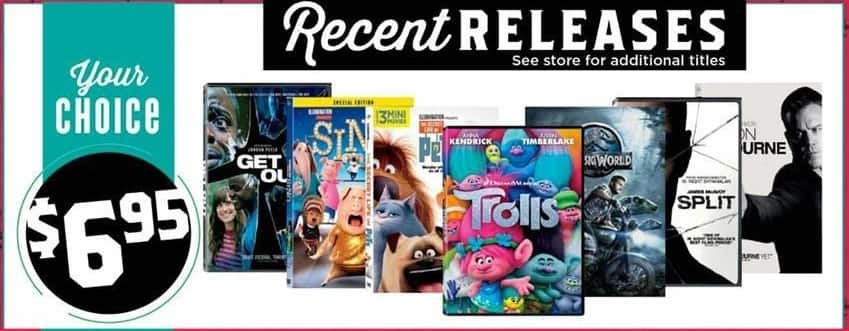H-E-B Black Friday: Get Out, Sing, Trolls & More DVD's for $6.95