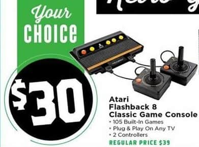 H-E-B Black Friday: Atari Flashback 8 Classic Game Console for $30.00