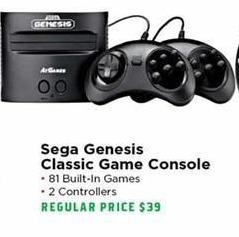 H-E-B Black Friday: Sega Genesis Classic Game Console for $30.00