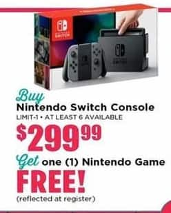 H-E-B Black Friday: Nintendo Switch Console + FREE (1) Nintendo Game for $299.99