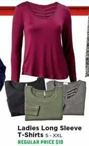 H-E-B Black Friday: Ladies Long Sleeve T-Shirts - 50% OFF