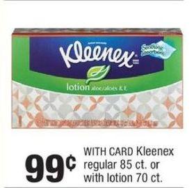 CVS Black Friday: Kleenex Regular w/Card for $0.99