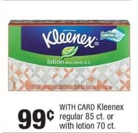 CVS Black Friday: Kleenex w/ Lotion w/ Card for $0.99
