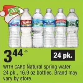 CVS Black Friday: Natural Spring Water 24pk w/ Card for $3.44