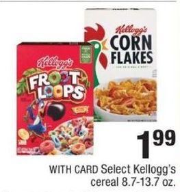 CVS Black Friday: Kellogg's Foot Loops, Corn Flakes & More  w/ Card for $1.99