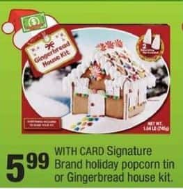 CVS Black Friday: Signature Brand Holiday Popcorn Tin w/ Card for $5.99