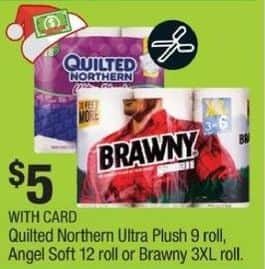 CVS Black Friday: Quilted Northern Ultra Plush 9 Roll Toilet Paper w/ Card for $5.00
