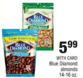 CVS Black Friday: Blue Diamond Almonds w/ Card for $5.99