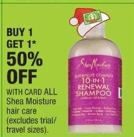 CVS Black Friday: All Shea Moisture Hair Care w/ Card - B1G1 50% OFF