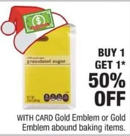 CVS Black Friday: Gold Emblem Baking Items w/ Card - B1G1 50% OFF