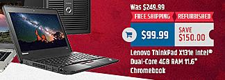 MacMall Black Friday: Lenovo ThinkPad X131e Intel Dual-Core 4GB RAM 11.6 Chromebook for $99.99