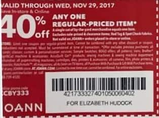 Joann Black Friday: Regular-Priced Item - 40% OFF