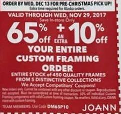 Joann Black Friday: Custom Framing Order - 65% OFF + 10% OFF