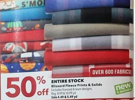 Joann Black Friday: Blizzard Fleece Solids - 50% OFF