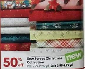 Joann Black Friday: Sew Sweet Christmas Collection - 50% OFF