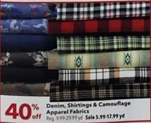 Joann Black Friday: Denim Apparel Fabrics - 40% OFF