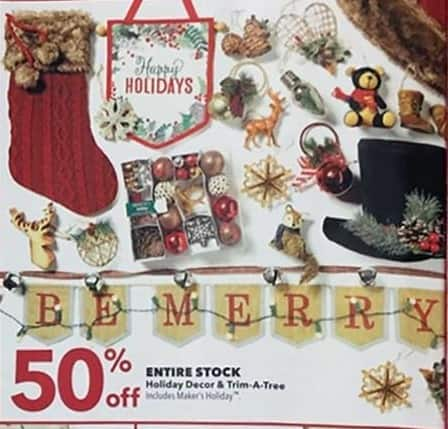 Joann Black Friday: Holiday Decor - 50% OFF