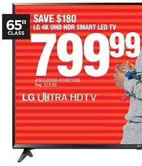 Navy Exchange Black Friday: LG 65'' Smart 4K LED UHD HDR TV for $799.99
