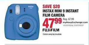 Navy Exchange Black Friday: FujiFilm Instax Mini 9 Instant Film Camera for $47.99