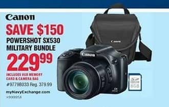 Navy Exchange Black Friday: Canon Powershot SX530 Military Camera Bundle for $229.99