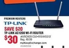 Navy Exchange Black Friday: TP-Link AC1200 Wi-Fi Router for $30.00