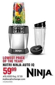 Navy Exchange Black Friday: Ninja Nutri Ninja Auto IQ Blender for $59.99