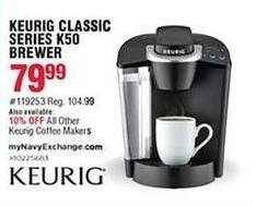 Navy Exchange Black Friday: Keurig Classic Series K50 Brewer for $79.99