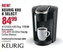 Navy Exchange Black Friday: Keurig Coffee Makers - 10% OFF