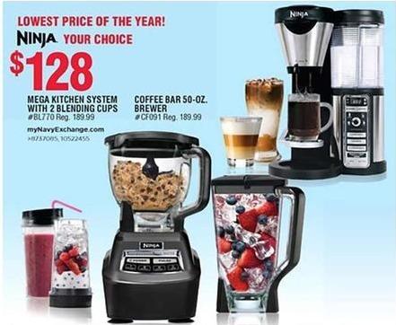 Navy Exchange Black Friday: Ninja Mega Kitchen System w/ 2 Blending Cups for $128.00