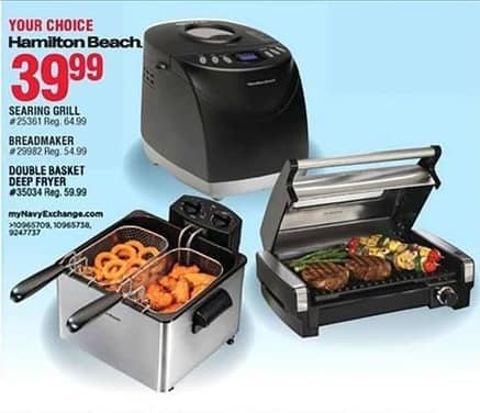 Navy Exchange Black Friday: Hamilton Beach Searing Grill for $39.99