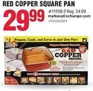 Navy Exchange Black Friday: Red Copper Square Pan for $29.99