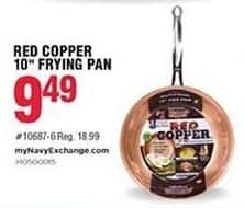 """Navy Exchange Black Friday: Red Copper 10"""" Frying Pan for $9.49"""