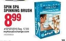 Navy Exchange Black Friday: Spin Spa Spinning Brush for $8.99