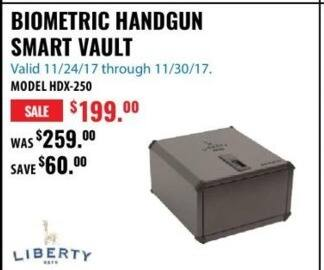 ACME Tools Black Friday: Liberty Biometric Handgun Smart Vault for $199.00