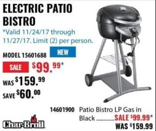ACME Tools Black Friday: Char-Broil Electric Patio Bistro for $99.99